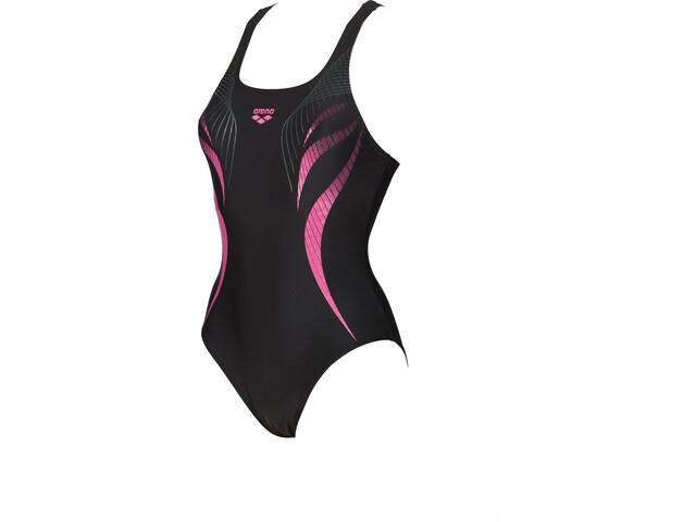 arena Flow V Back LB One Piece Swimsuit Women black-aphrodite